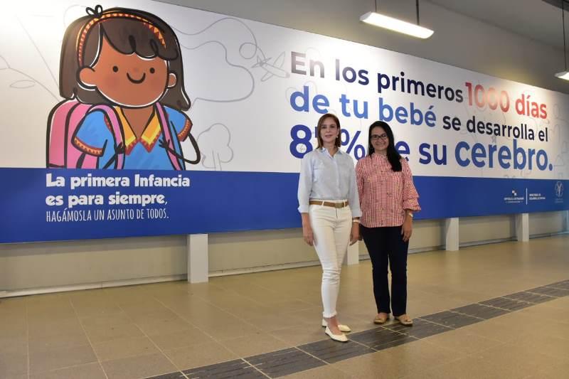 Campaña sobre la primera infancia se toma las estaciones del Metro