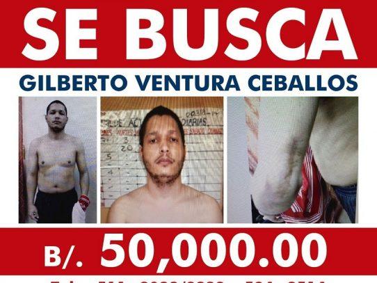 Recompensa para atrapar a Ventura Ceballos aumenta a 50 mil dólares