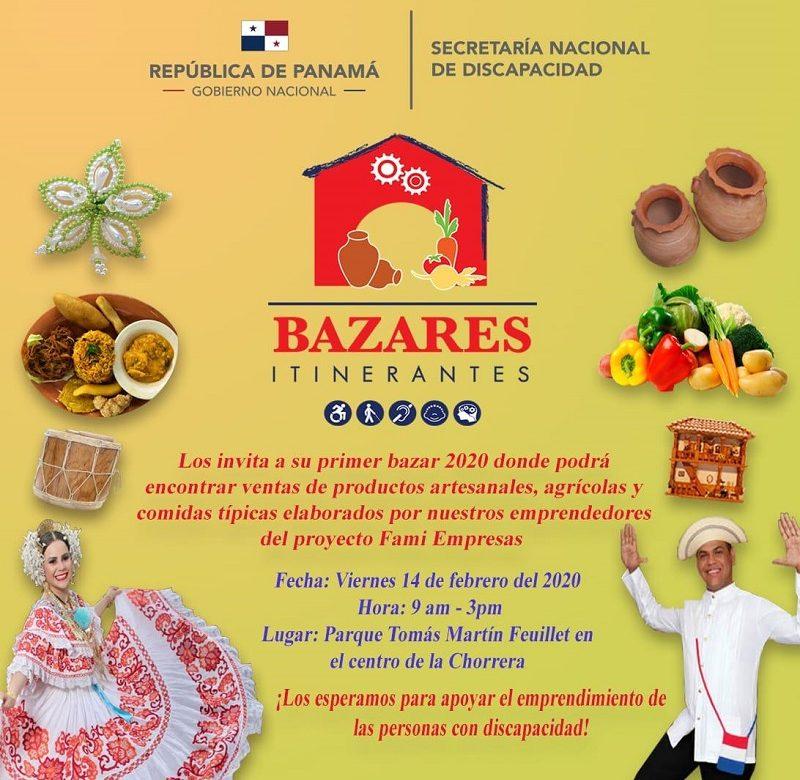 Bazar itinerante este viernes en el parque Feuillet de La Chorrera
