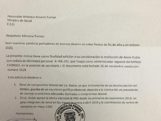 Diputado del PRD en Chiriquí pide puestos en el MINSA para su activista