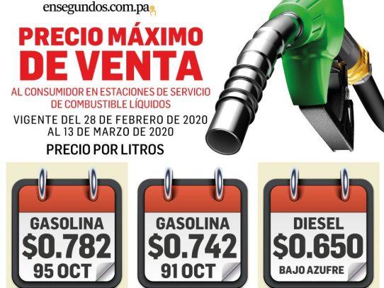 Precios del combustible aumentarán desde este viernes