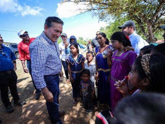 Cortizo manda mensaje de unidad a la comarca Ngäbe Buglé en su aniversario