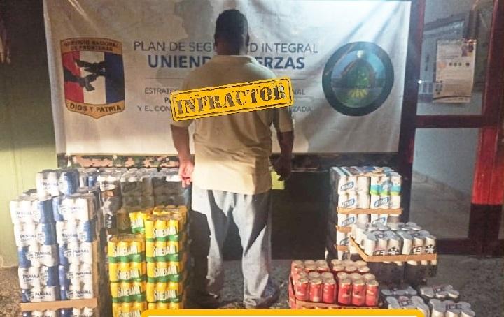 Detienen a un hombre que transportaba 37 cajas de cerveza en Darién