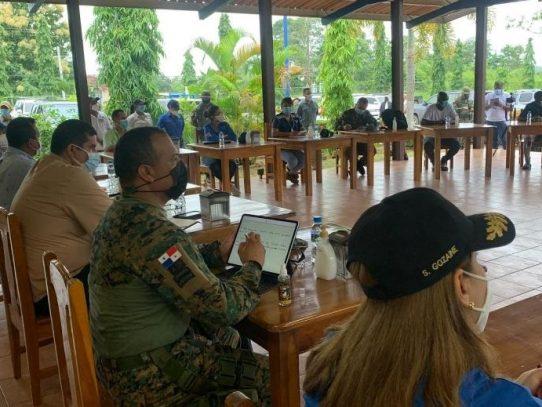 Minseg, Migración, Senafront y autoridades se reúnen con migrantes en Darién