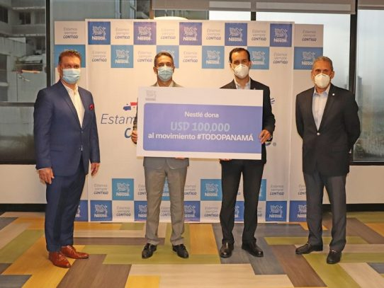 Nestlé se suma a la iniciativa #TodoPanamá para apoyar la lucha contra el COVID-19