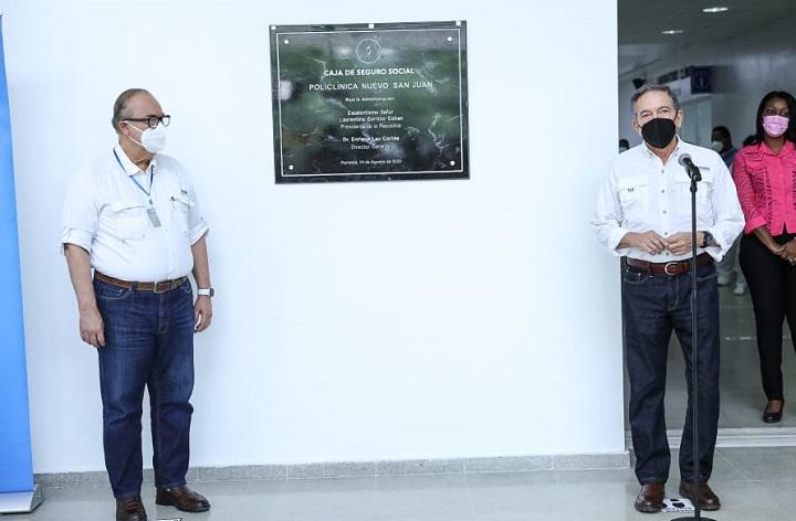 Presidente Cortizo inaugura la policlínica de Nuevo San Juan