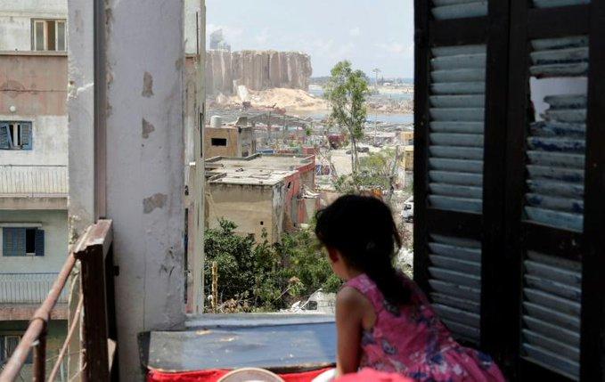 Los niños de Beirut, traumatizados por la explosión